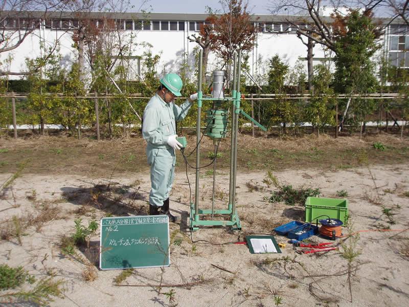 宅地地盤調査(スウェーデン式サウンディング試験)