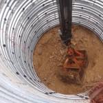 集水井掘削状況